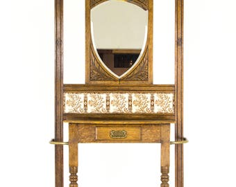 Antique Hall Stand Etsy