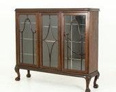 Antique Bookcase, Chippendale Bookcase, Walnut Bookcase, Display Case, China Cabinet, Curio Cabinet, B587