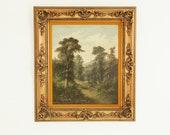 Antique Framed Signed Oil Painting, Scottish Highlands Landscape, John Henry Boel, (1953-1922), B712