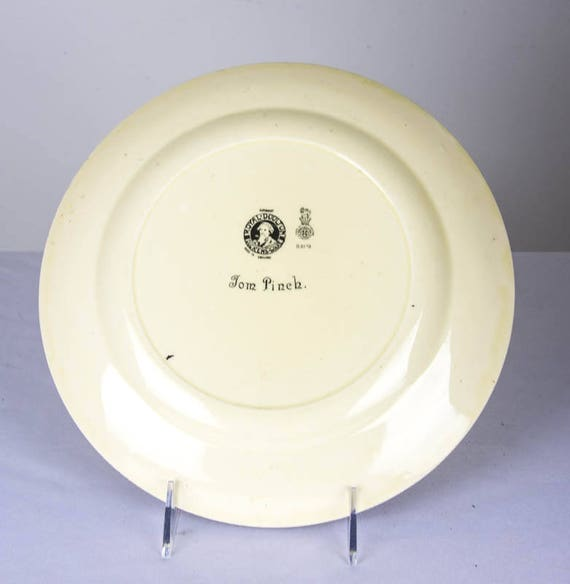 10 12 Diameter B932 Tom Pinch Summer Sale Rare Royal Doulton Dickens-Ware D5175