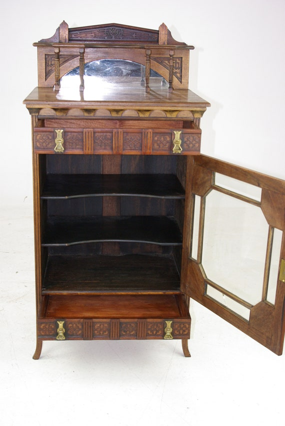 image 0 - Antique Music Stand Music Cabinet Music Box Walnut Etsy