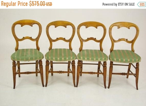 Stupendous Pre Christmas Sale Antique Dining Chairs Four Balloon Back Chairs Upholstered Victorian Chairs Scotland 1880 Antique Furniture B1339 Alphanode Cool Chair Designs And Ideas Alphanodeonline