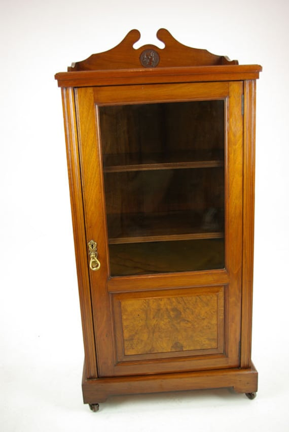 image 0 - Antique Music Stand Music Cabinet Music Box Burr Walnut Etsy