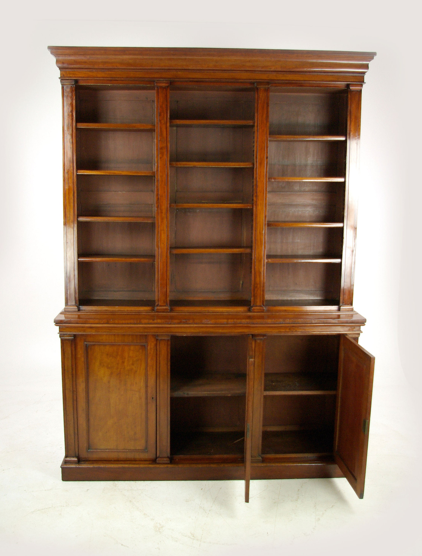 Antique Mahogany Bookcase Open Bookcase Victorian Scotland 1860 Antique Furniture B1136 Reduced
