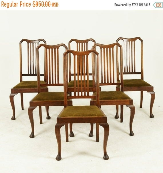 Miraculous Fall Sale Six Dining Chairs Antique Dining Chairs Queen Anne Chairs Walnut Scotland 1920 Antique Furniture B1407 Alphanode Cool Chair Designs And Ideas Alphanodeonline