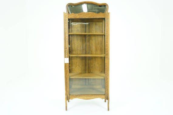 image 0 - Antique China Cabinet Vintage Display Cabinet America 1920 Etsy
