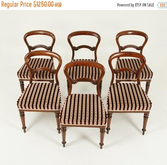 Strange Fall Sale Antique Dining Chairs 6 Balloon Back Chairs Walnut Victorian Scotland 1880 Antique Furniture B1573 Alphanode Cool Chair Designs And Ideas Alphanodeonline