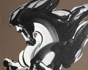 "Jonson Wang 150 39x78"" Horse"