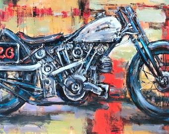 """Yuanjian Wang 171 29x59"""" Motorcycle"""