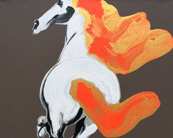 "Jonson Wang 174 39x39""Horse"