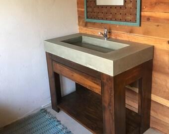 Custom Concrete Counter Space Sink