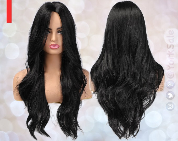 Victoria   Long Black Synthetic Wig