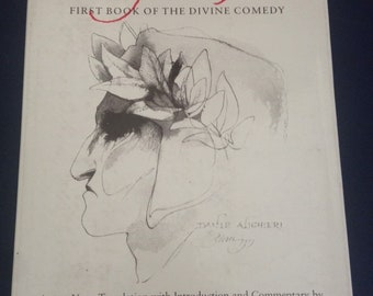 BARRY MOSER ~ SIGNED illustrated Inferno / First Book of the Divine Comedy / Dante 1st 1980 University of California Press / hardcover