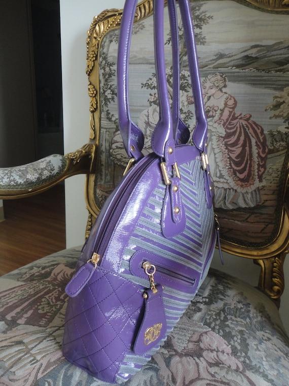 Vintage Sharif Large Handbag 16x12x5 - image 6