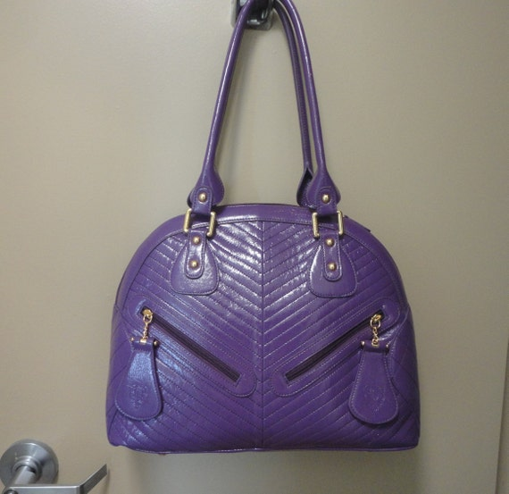 Vintage Sharif Large Handbag 16x12x5 - image 8