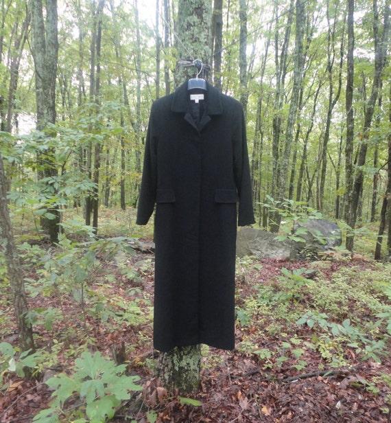 Albert Nipon Cashmere Dress Coat Size 10