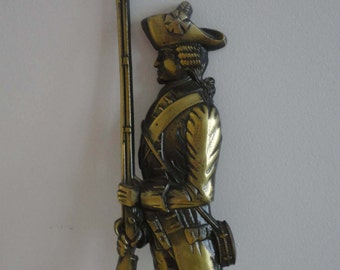 """Antique French Soldier Wall Decor Cast Iron Japan 18 1/2"""""""