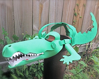 Alligator Mask (3-D animal mask for kids & adults)