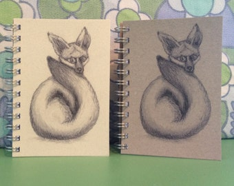fox small shopping list/notebook/purse book recycled paper