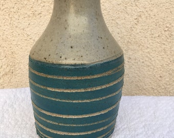 Carved Turquoise Vase
