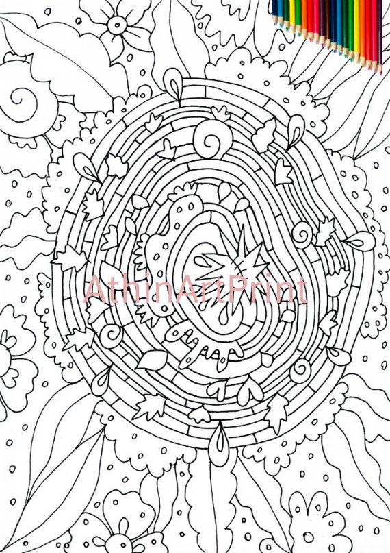 Abstract coloring page on Colorish: coloring book app for adults ... | 807x570