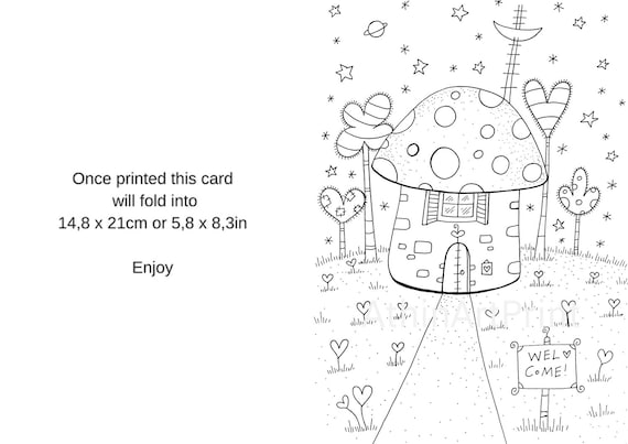 Coloriage De Cartes Cartes De Vœux Les Enfants Coloriage Carte