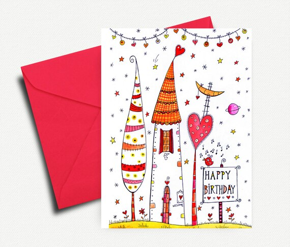 Birthday Card Printable Birthday Card Greeting Card Blank Etsy