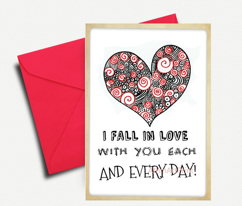picture relating to Printable Love Cards identify Anniversary Get pleasure from Card, Printable Card, Delight in Greeting Playing cards, Enjoy Card, Passionate Card, Greeting Card for Spouse, Spouse, GF, Quick Obtain