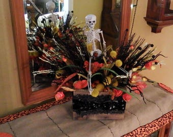 halloween centerpiece halloween decoration fall decoration fall centerpiece table arrangement skeleton centerpiece halloween decor