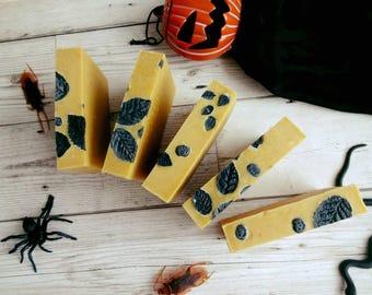 Pumpkin Puree Natural Handmade Soap, Castor Oil Soap, Cinnamon Star Anise Scented Soap, Homemade Pumpkin Soap, Vegan Soap, 100g