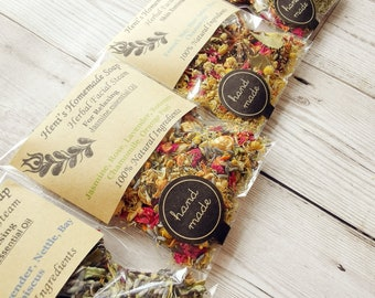 Herbs Facial Steam Bundle, 8 Botanical Face Steaming, Pore cleansing, Herb steam Bundle, Christmas stocking fillers, Acne treatment, Vegan