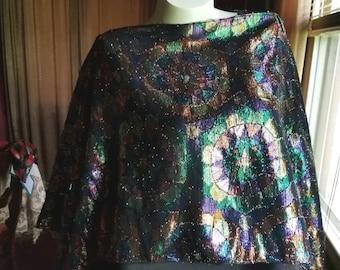 Gorgeous Silk Chiffon Poncho and Kimono in 1    Multicolor