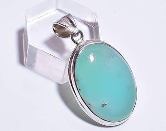Chrysoprase 925 sterling silver pendant jewelry z-2181