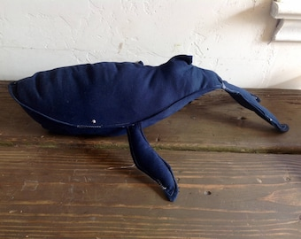 Bruno Upcycled Navy & Silver Trouser Whale