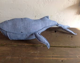 Gloria Upcycled Chambray/Denim Whale