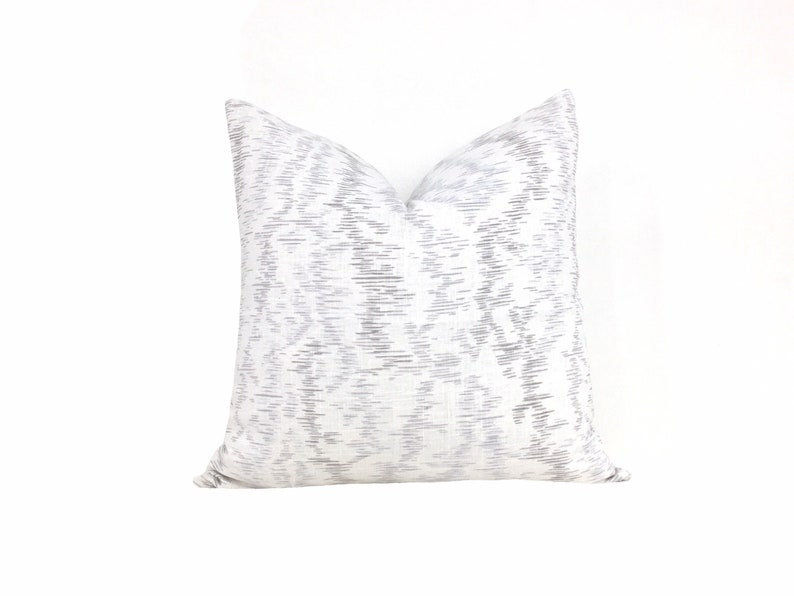 White and Gray Pillow Cover  Decorative Abstract Throw Pillow Cover  C22