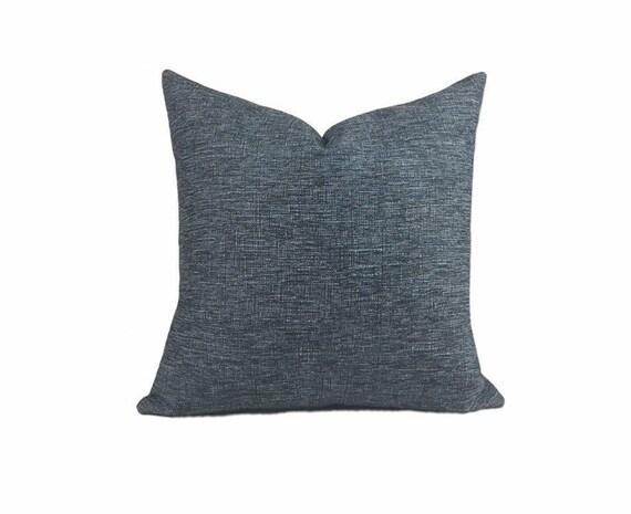 Abbey Shea Indigo Woven Indigo Pillow Cover Both Sides Etsy