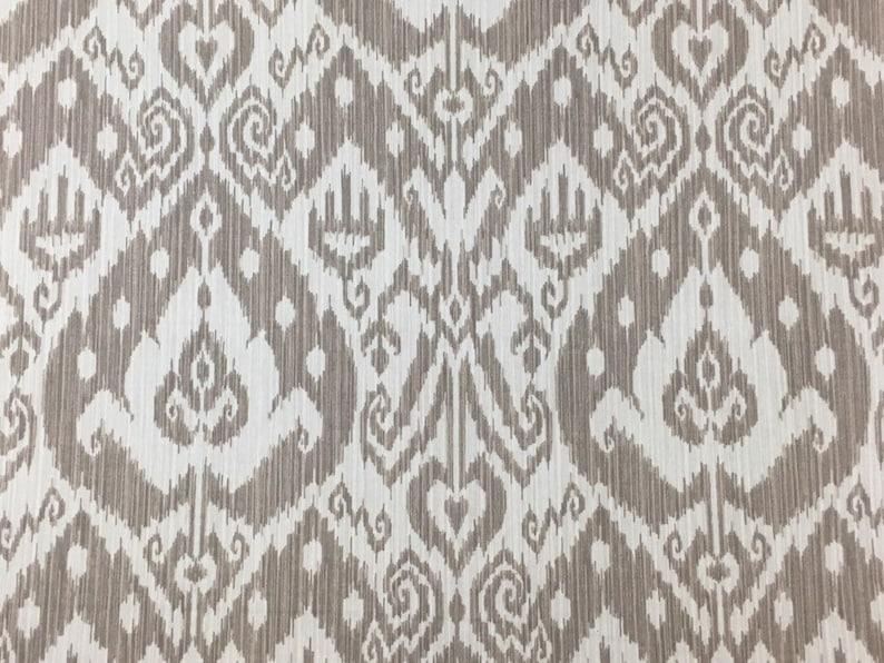 Fabulous Richloom Greige Ikat Fabric By The Yard Upholstery Fabric Home Decor Fabric Designer Fabric Modern Farmhouse Fabric 024 Interior Design Ideas Inamawefileorg