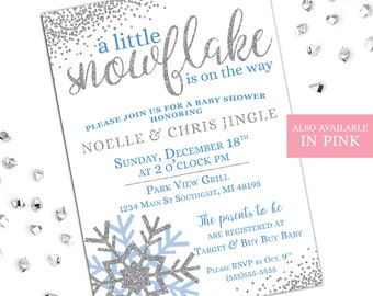 Winter baby shower etsy more colors winter baby shower invitations filmwisefo