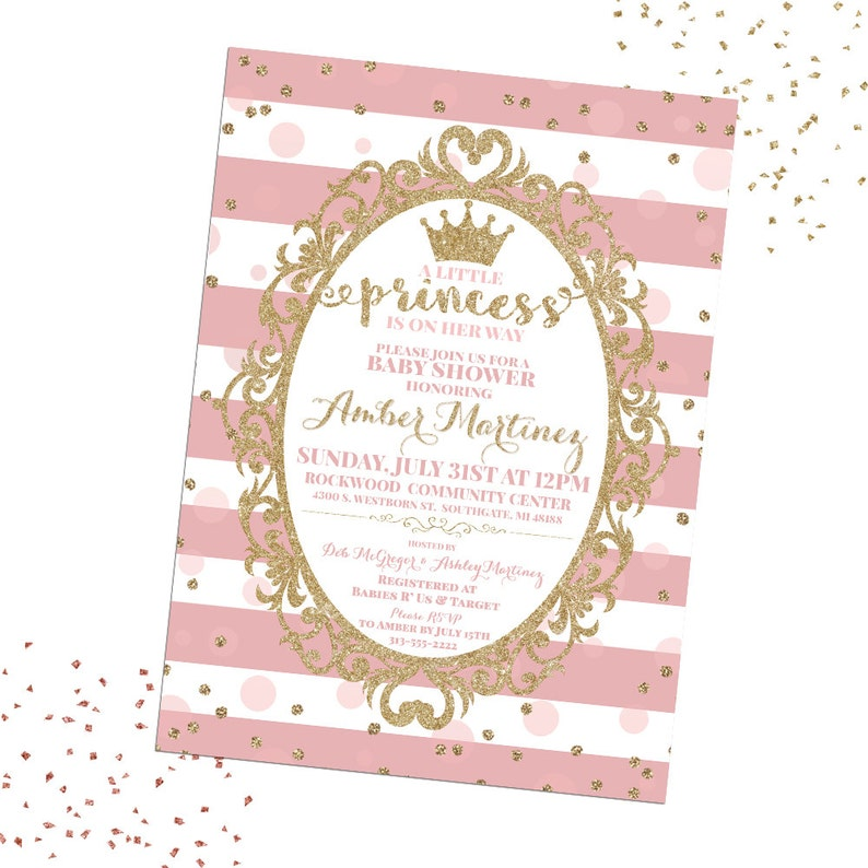 graphic relating to Printable Baby Shower Invitations Girl referred to as Princess Youngster Shower Invitation, A Minor Princess Is Upon Her Path, Princess Invitation, Female Youngster Shower, Printable Child Shower Invitation