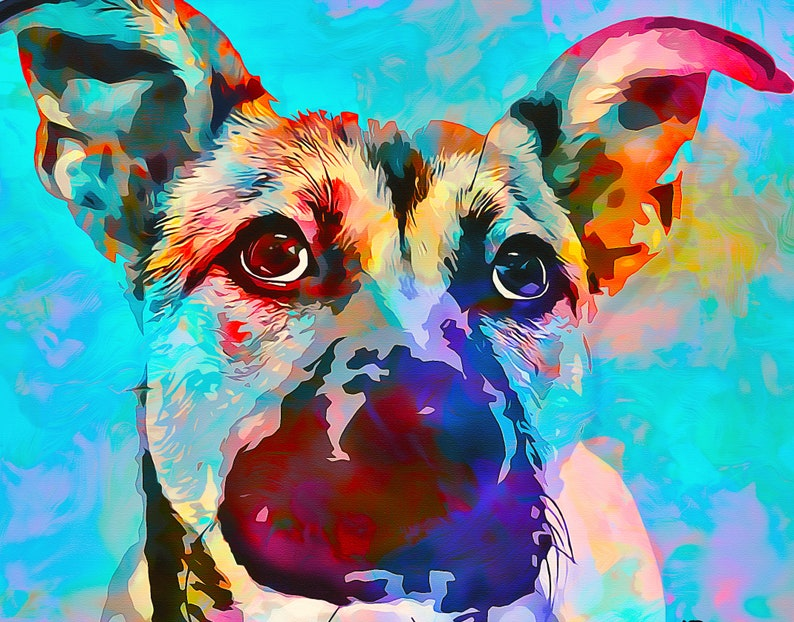 custom pet portraitdog portrait custom dog portrait image 0