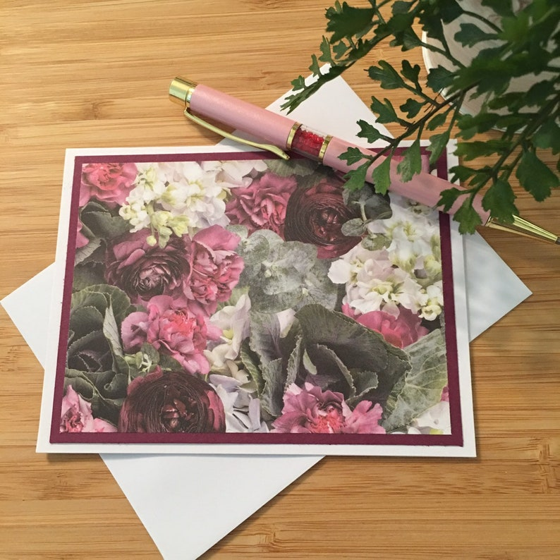Handmade Floral Note Cards with Envelopes