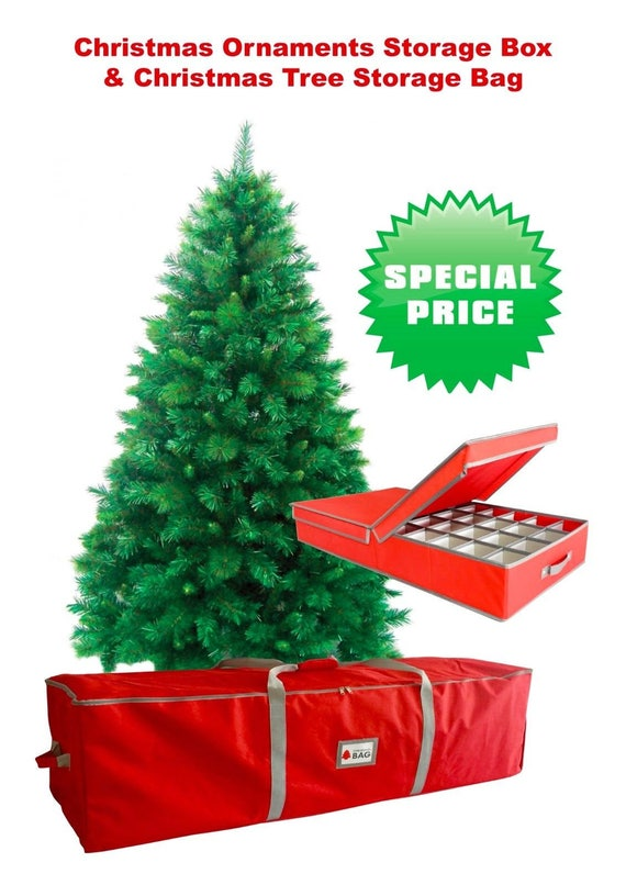 Christmas Tree Storage Bag.Christmas Tree Storage Bag Decorations Storage Box Combo Offer