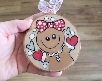 Gingerbread buckle, CHRISTMAS ORNAMENT, log, hand painted, Christmas, Christmas decoration, souvenir, Baloubab