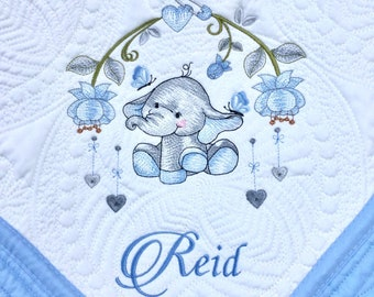 Personalized Quilt Baby Blanket Baby Quilt Monogrammed Quilt Personalized baby quilt Quilted Crib Blanket Throws. Quilt Baby Gift