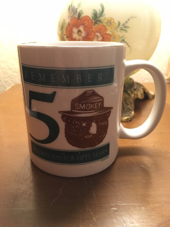 cool smokey bear only you can prevent wildfires ceramic mug