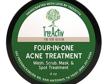 TreeActiv Matcha Anti-Aging Face Wash, Castile & Coconut Milk, 8oz Iris Hydrating Night Cream - 1 fl. oz. by Weleda (pack of 4)