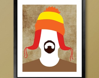 CUSTOMIZABLE Firefly Inspired Poster - Minimalist Jayne Cobb with or without Jayne Hat