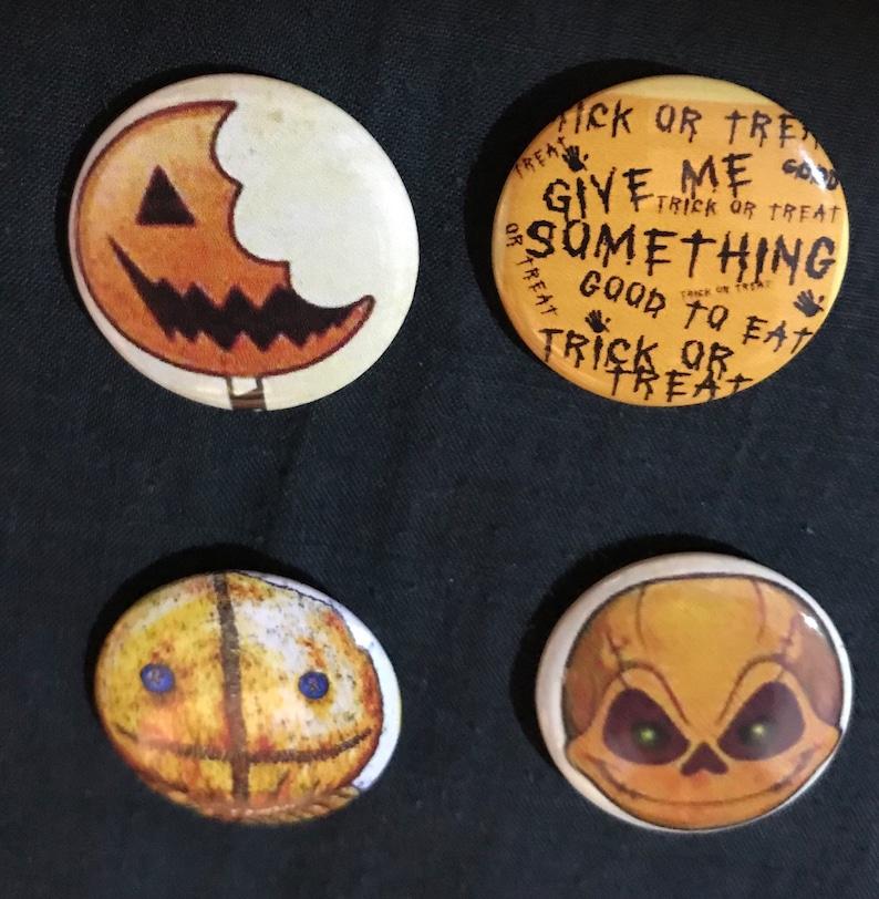 32mm Button Badge Halloween 4 SET Vintage Steampunk