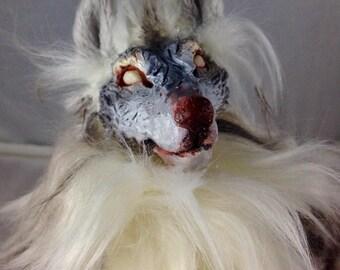 Grey Werewolf artdoll OOAK room guardian